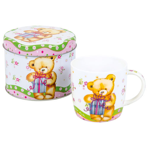 "Kindertasse ""Bär"" in Metalbox"